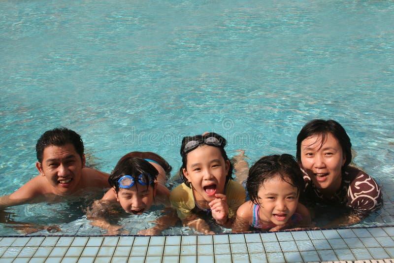 Família feliz na associação imagem de stock royalty free
