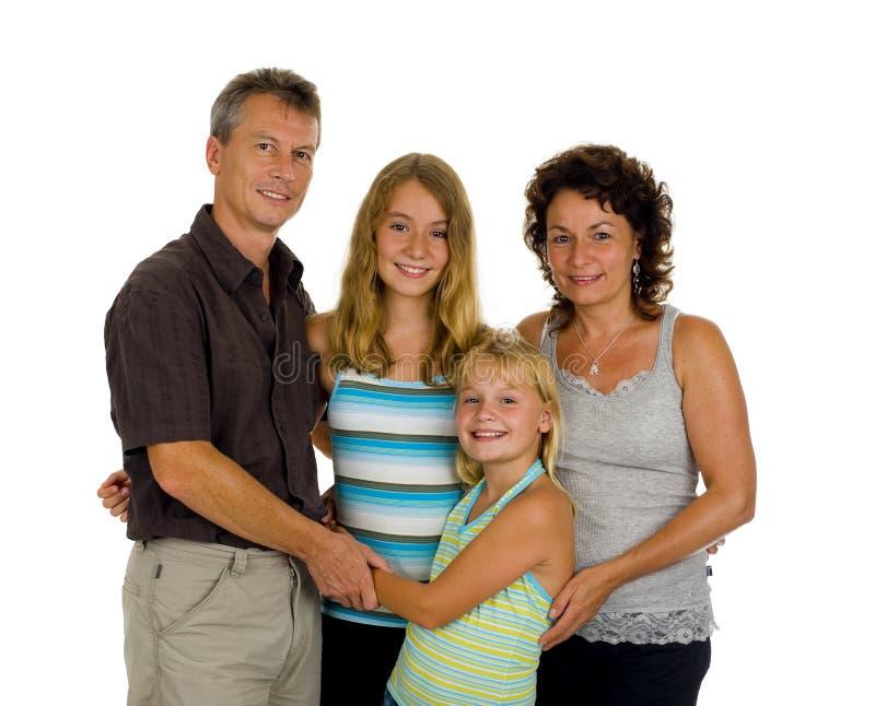 Família feliz no estúdio fotos de stock royalty free