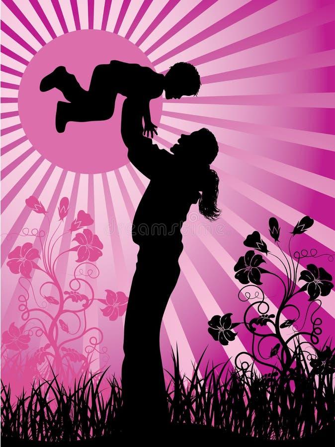 Família feliz, vetor ilustração stock
