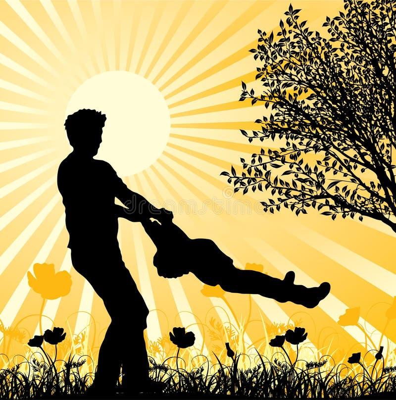 Família feliz, vetor ilustração do vetor