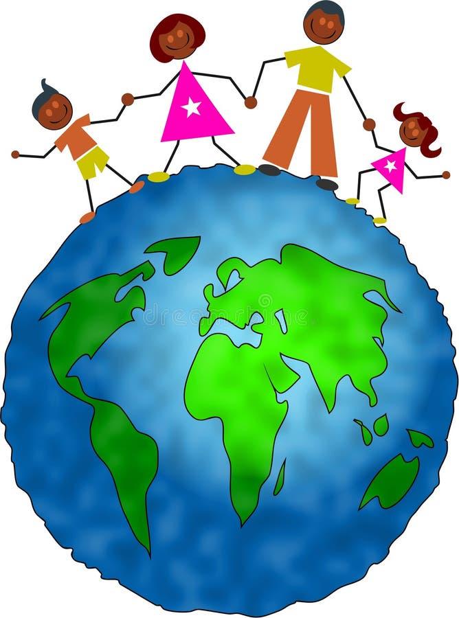 Família global ilustração stock