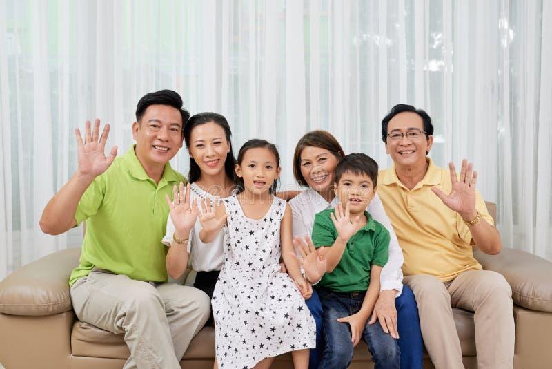 Família grande fotografia de stock royalty free
