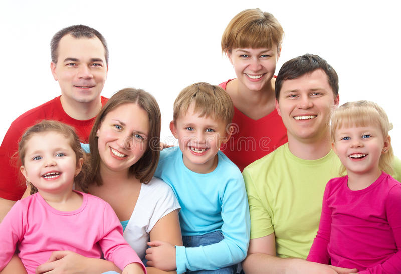 Família grande imagens de stock