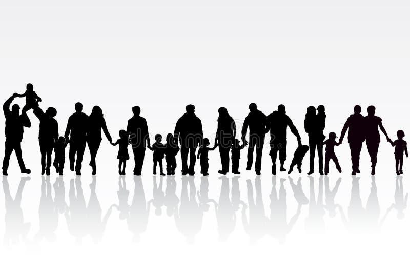 Família grande ilustração do vetor