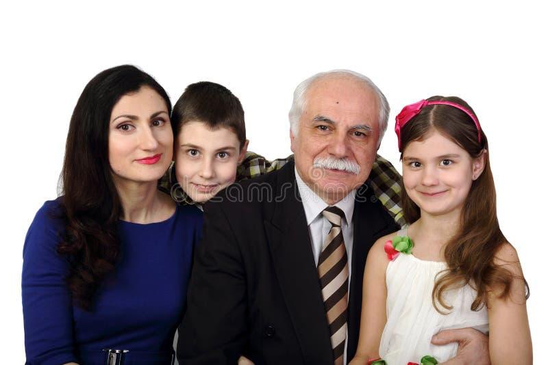 Família grande foto de stock