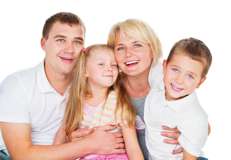 Família grande feliz foto de stock royalty free