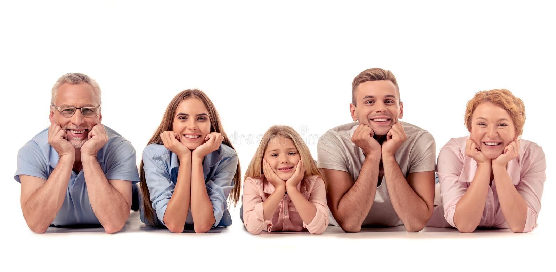 Família grande feliz imagens de stock
