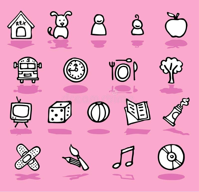 Família, HOME, ícones dos miúdos ajustados