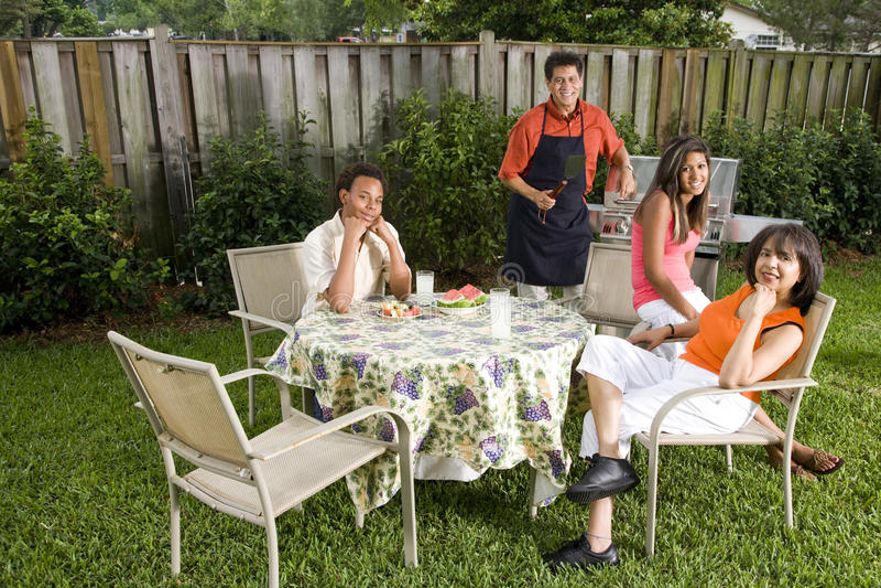 Família inter-racial imagem de stock royalty free