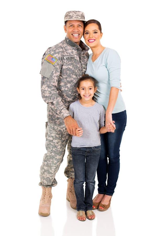 Família militar que está junto fotografia de stock