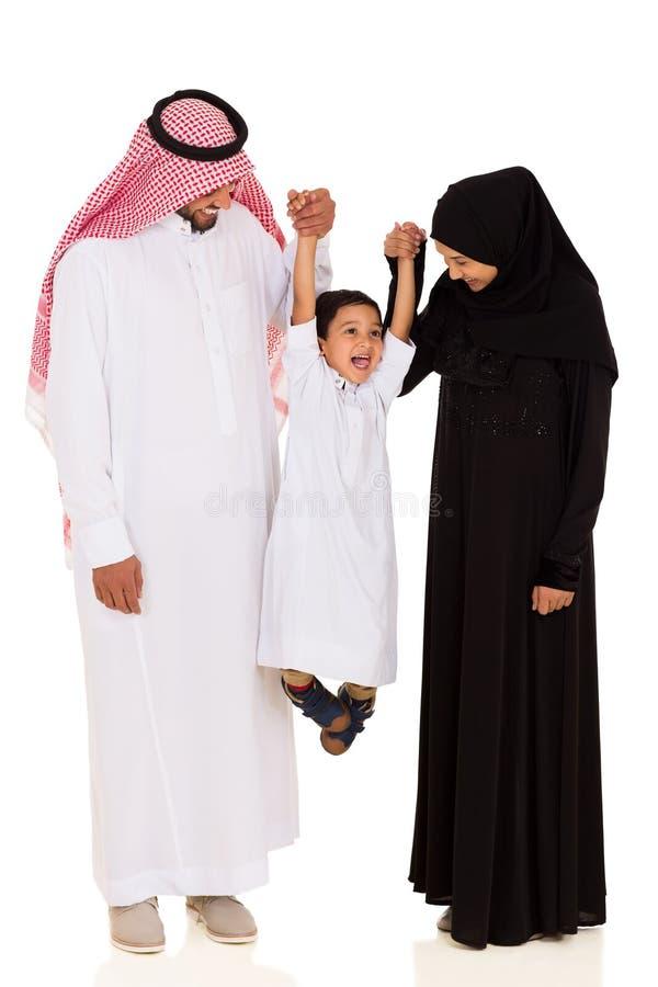 Família muçulmana nova fotos de stock