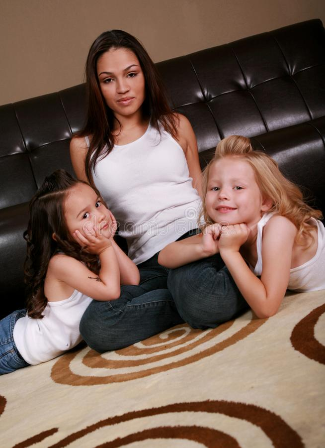 Família multirracial bonita imagem de stock royalty free
