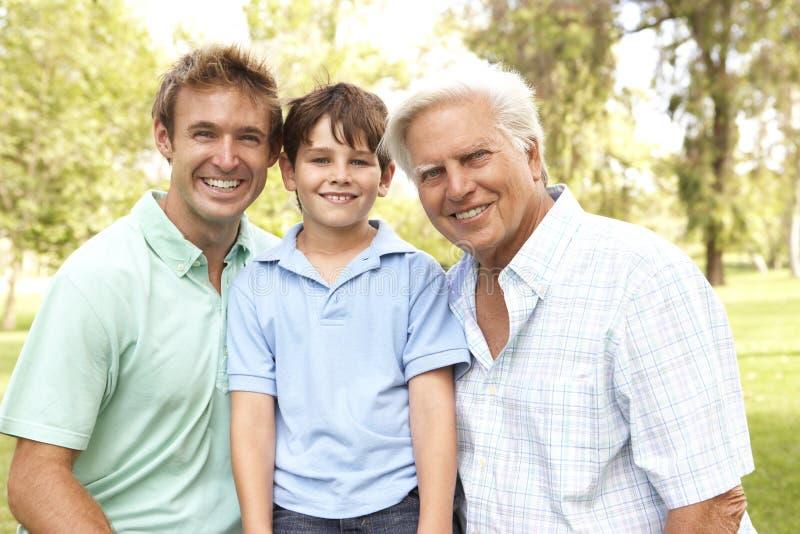 Família no parque fotos de stock