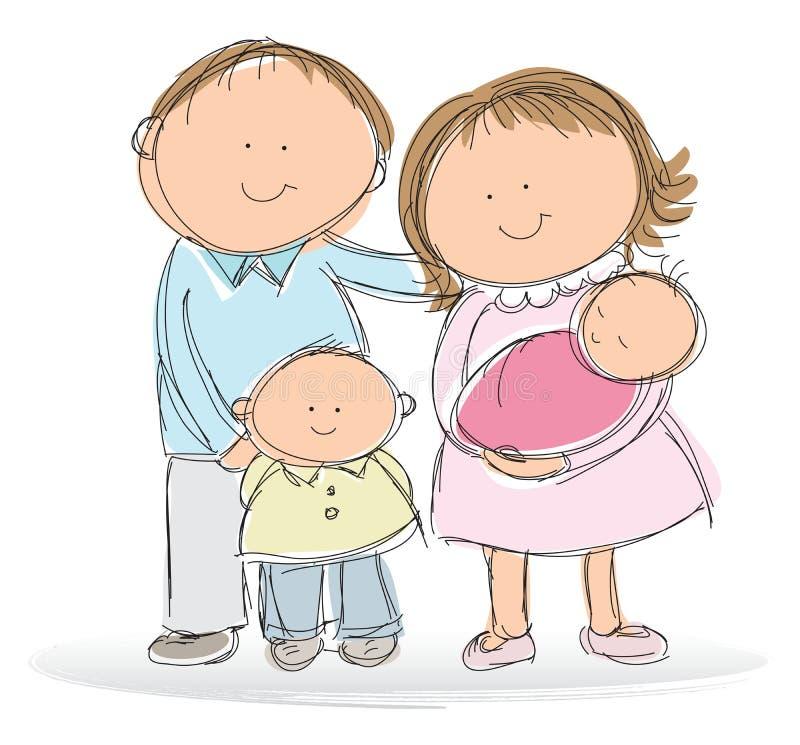Família nova ilustração do vetor