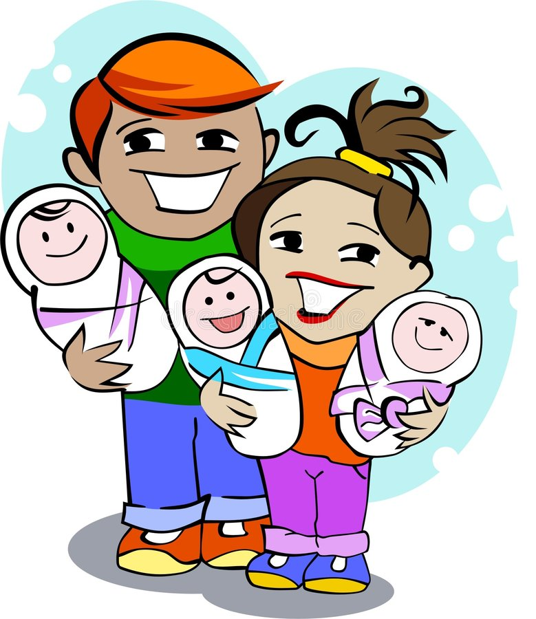 Família nova feliz ilustração stock