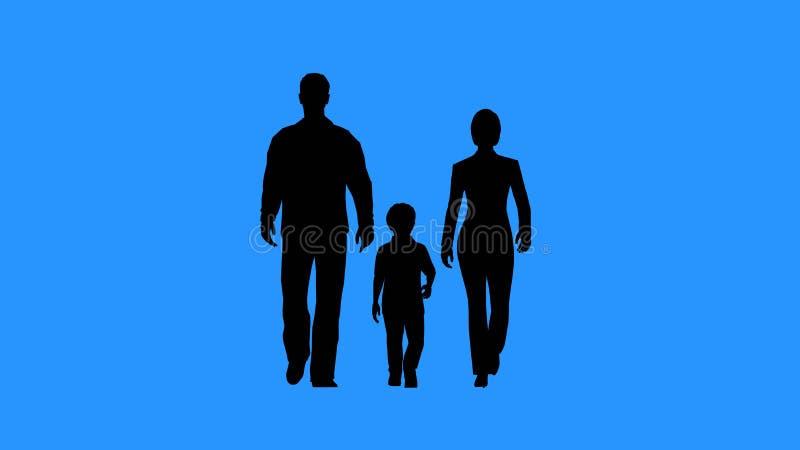 Família que anda junto Pais e sua criança fotos de stock