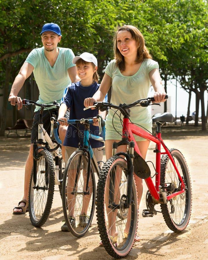 Família que passa o tempo livre no parque fotos de stock royalty free