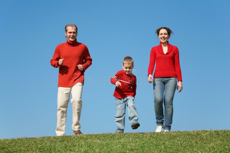 Família Running imagens de stock royalty free