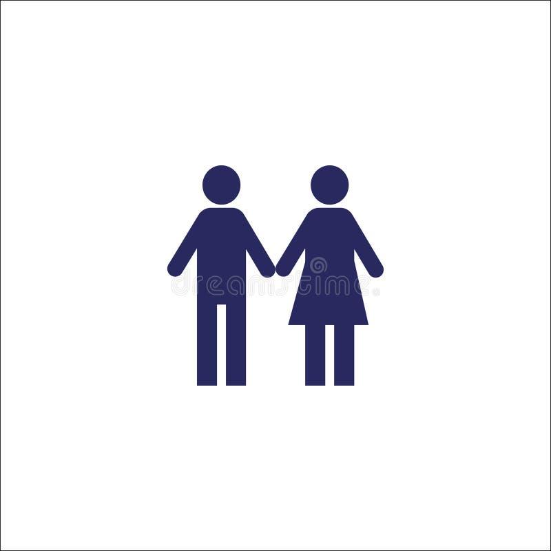 Família, símbolo isolado ícone do sinal dos pares ilustração royalty free