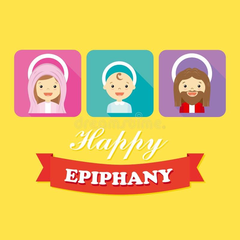 Família santamente ilustração royalty free