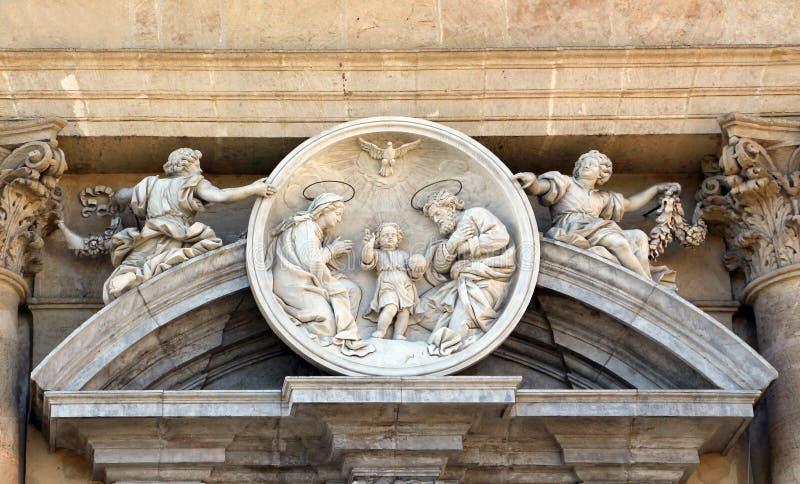 A família santamente, barroco, de mármore, roundel foto de stock royalty free