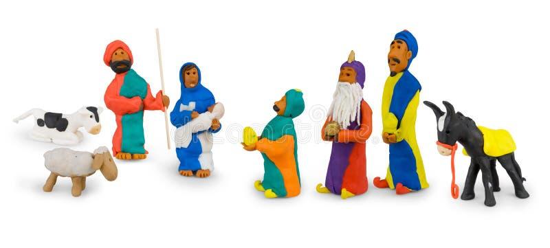 família santamente e três reis imagens de stock