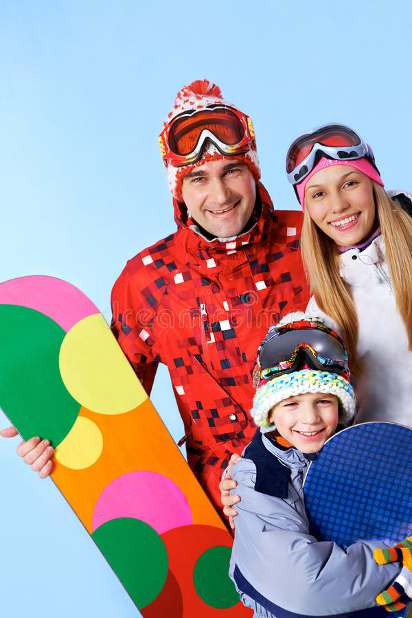 Família Sportive imagem de stock royalty free