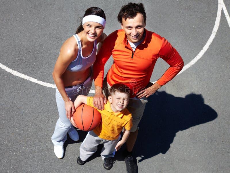 Família Sportive fotos de stock