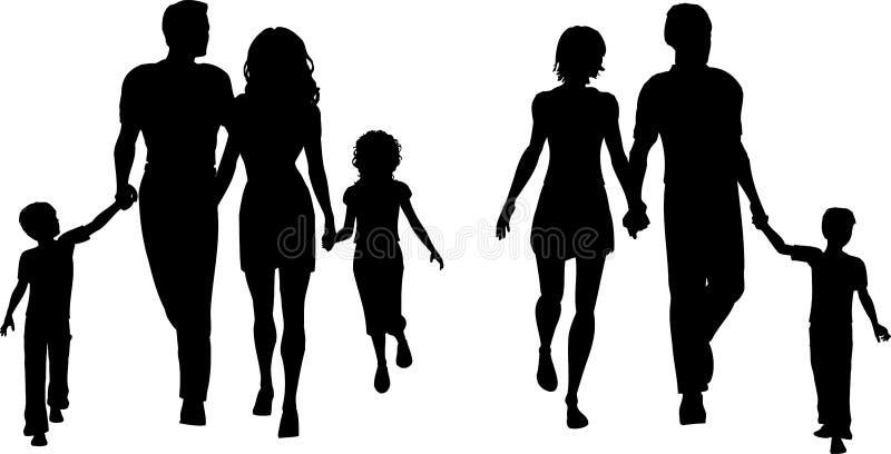 Famílias ilustração royalty free