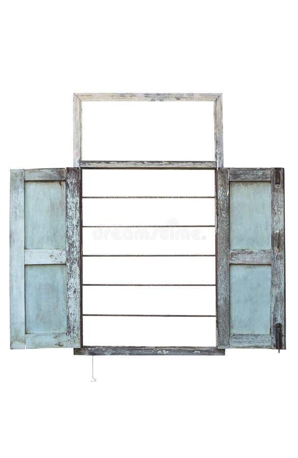 fama antica della finestra aperta fotografia stock