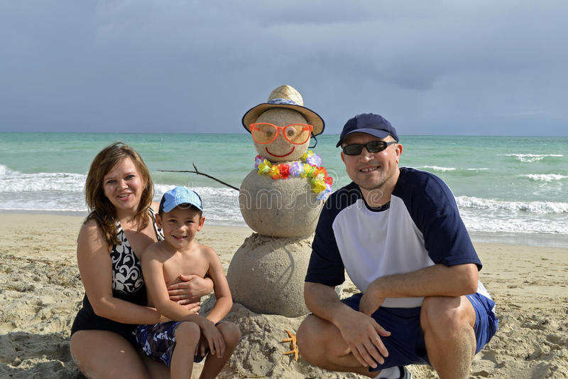 Family Winter Vacation Royalty Free Stock Photos