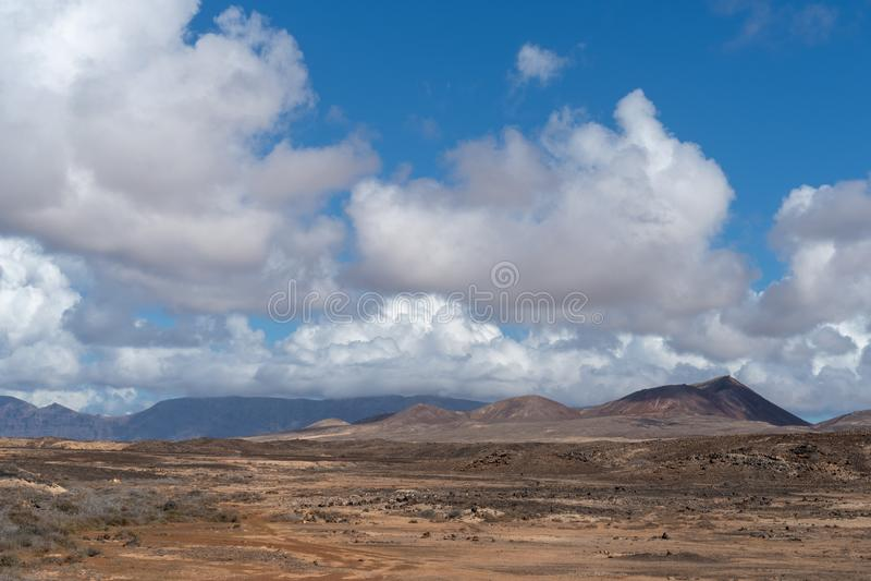 Famara massiv, Lanzarote ö, kanariefågelöar, Spanien arkivbild