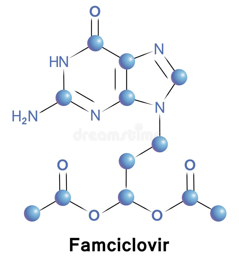 Famciclovir illustration libre de droits