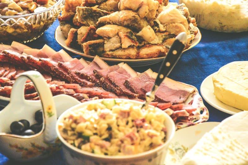 Fame della carne di festività di Gala Dinner delicata immagini stock libere da diritti