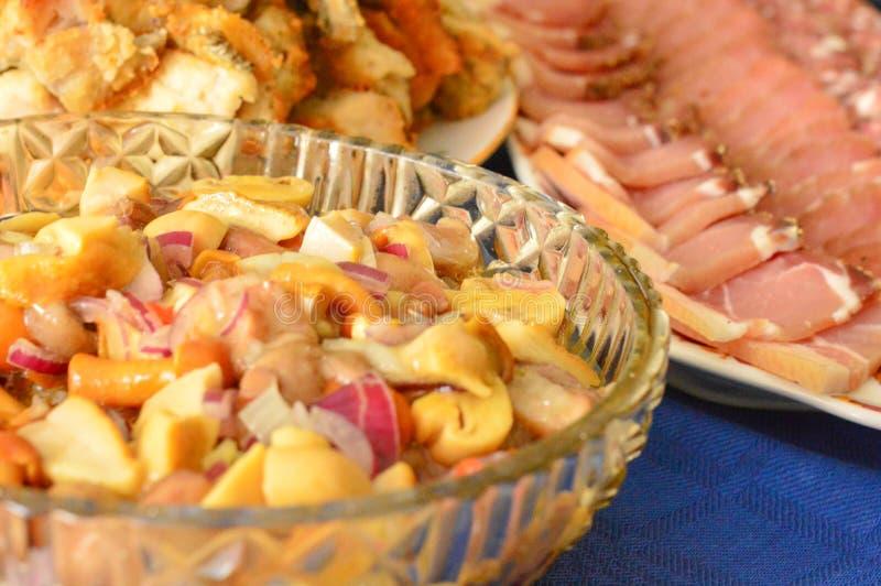 Fame della carne di festività di Gala Dinner delicata fotografie stock libere da diritti