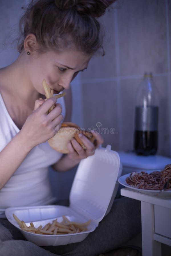 Fame e bulimia fotografia stock