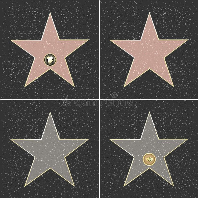 Fame Stars royalty free illustration