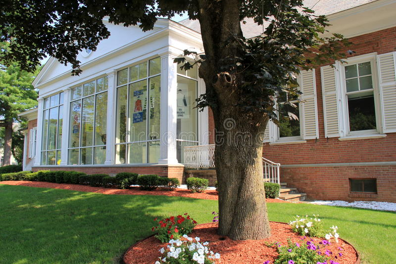 Famed architecture with many educational exhibits,National Museum Of Racing And Hall Of Fame,Saratoga Springs,New York,2015. Historic building that houses many royalty free stock image