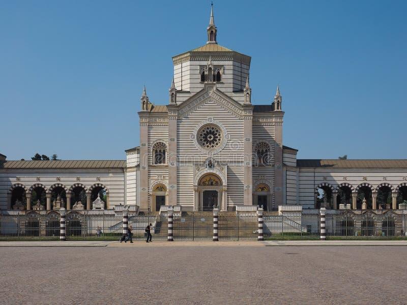 Famedio a Cimitero Monumentale (cimitero monumentale) a Milano fotografia stock libera da diritti