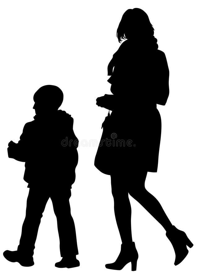 Download Famely en kind drie vector illustratie. Illustratie bestaande uit moeder - 114226051