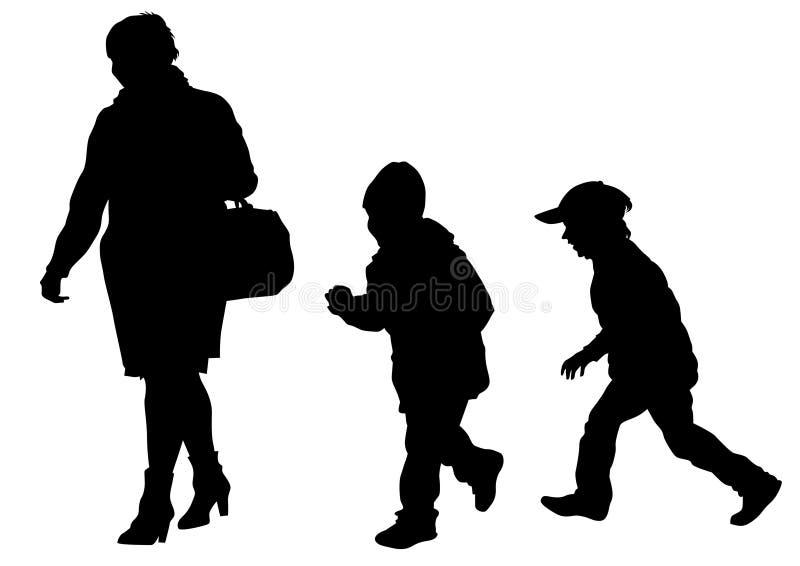 Download Famely en kind twee vector illustratie. Illustratie bestaande uit mensen - 114226044