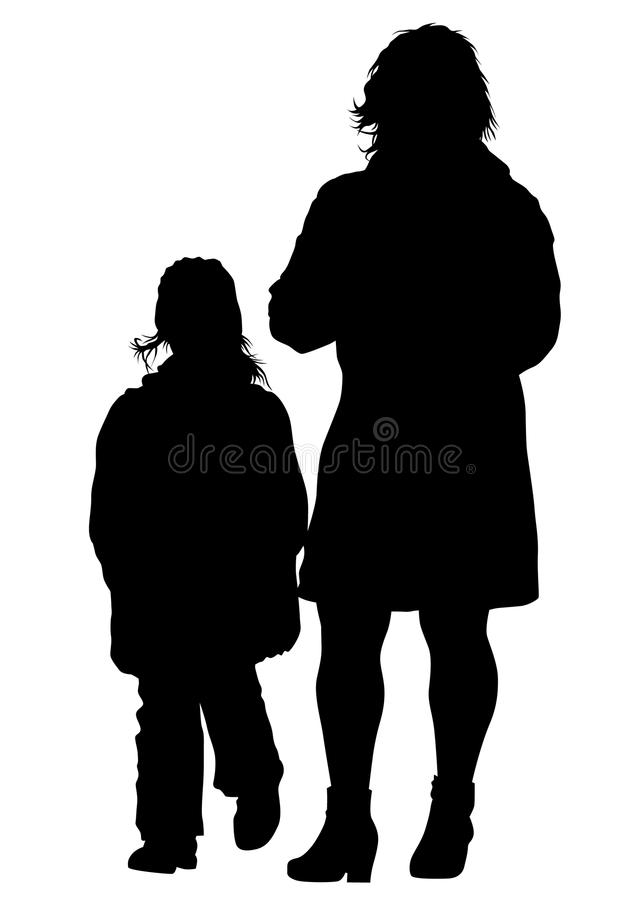 Download Famely en kind vier vector illustratie. Illustratie bestaande uit mens - 114226001
