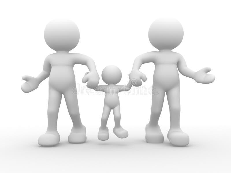 Famiglia illustrazione di stock