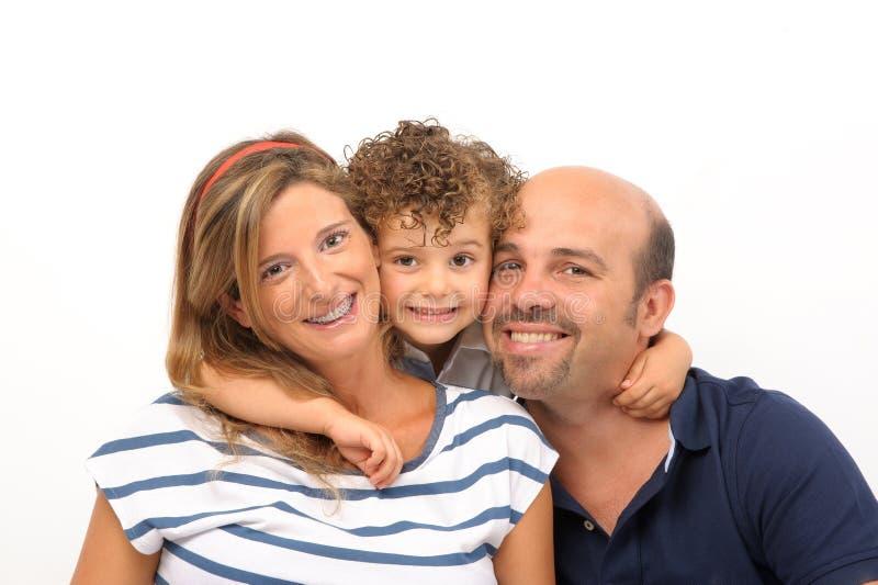 Famiglia abbracciata immagini stock