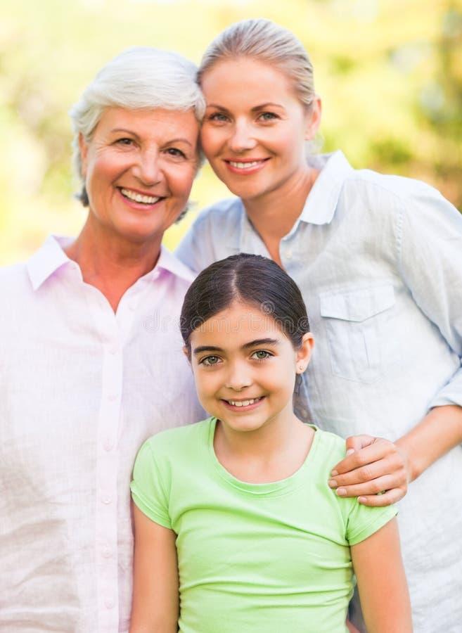 Famiglia adorabile nella sosta immagine stock libera da diritti