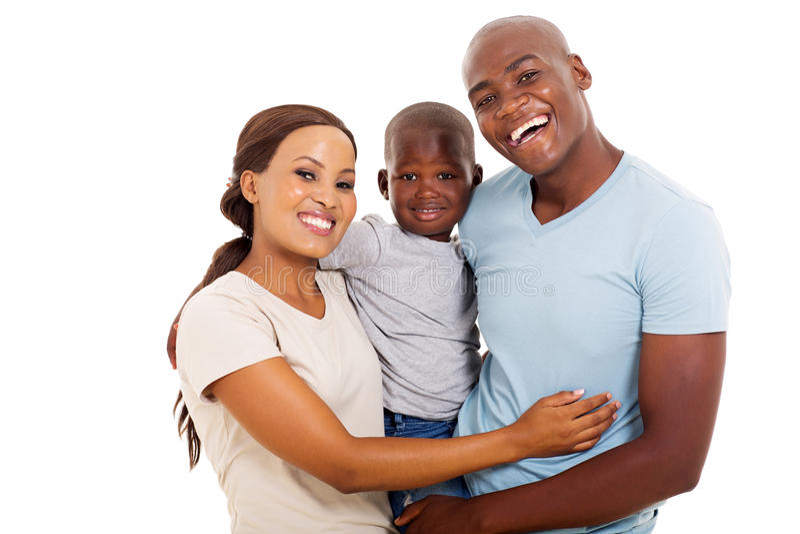 Famiglia africana tre fotografie stock libere da diritti