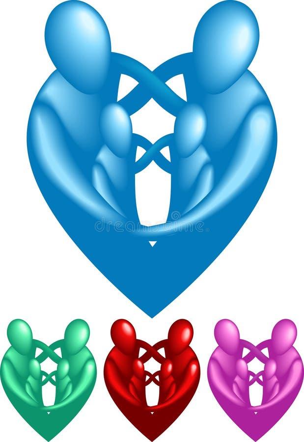 Famiglia amorosa royalty illustrazione gratis