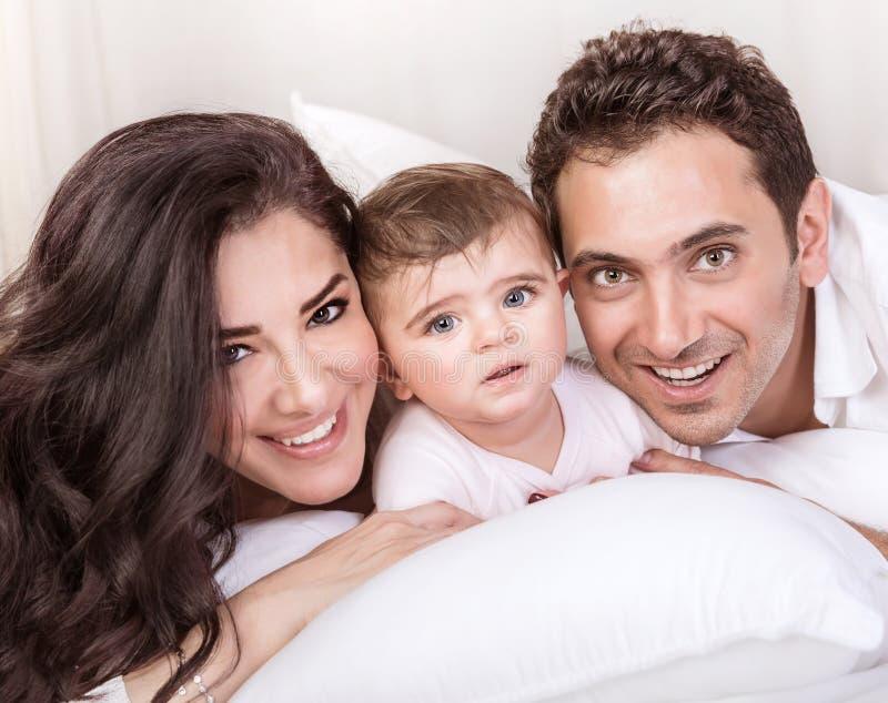 Famiglia araba felice immagine stock