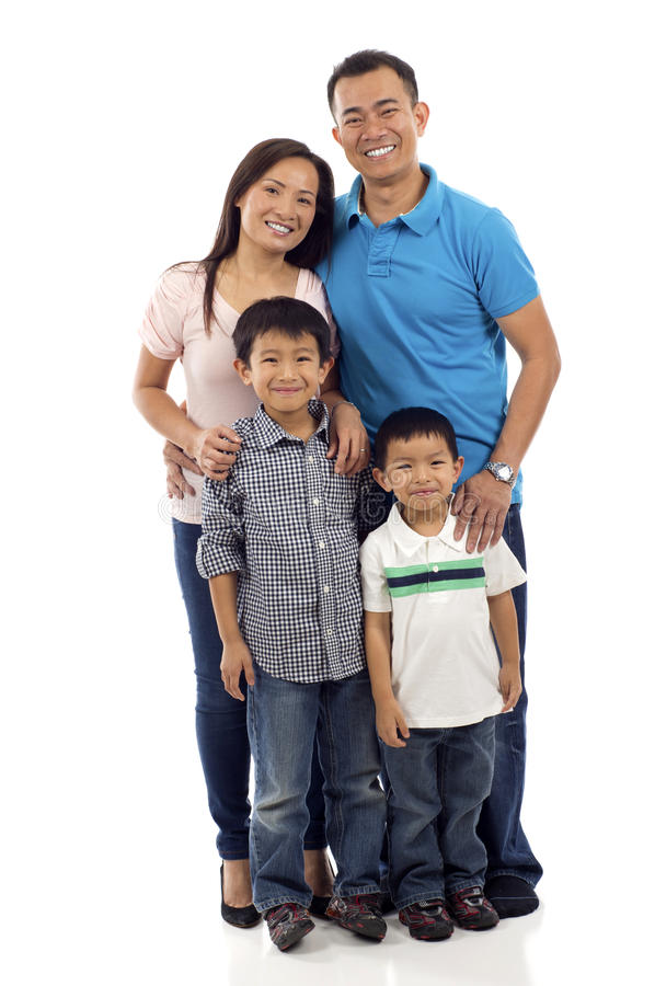 Famiglia asiatica immagini stock