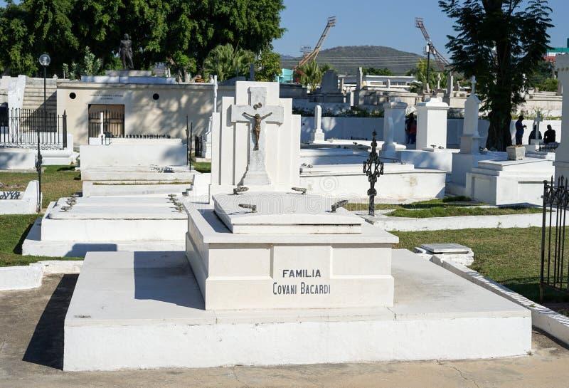 Famiglia Bacardi, Santiago de Cuba di af del mausoleo immagine stock